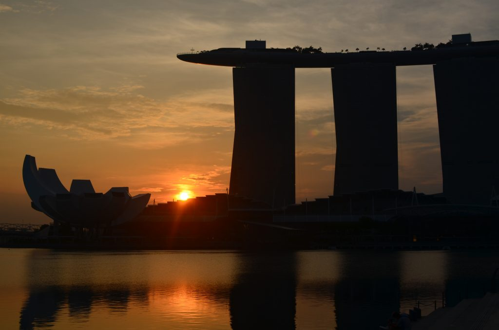 Marina Bay Sands at Sunrise, Singapore
