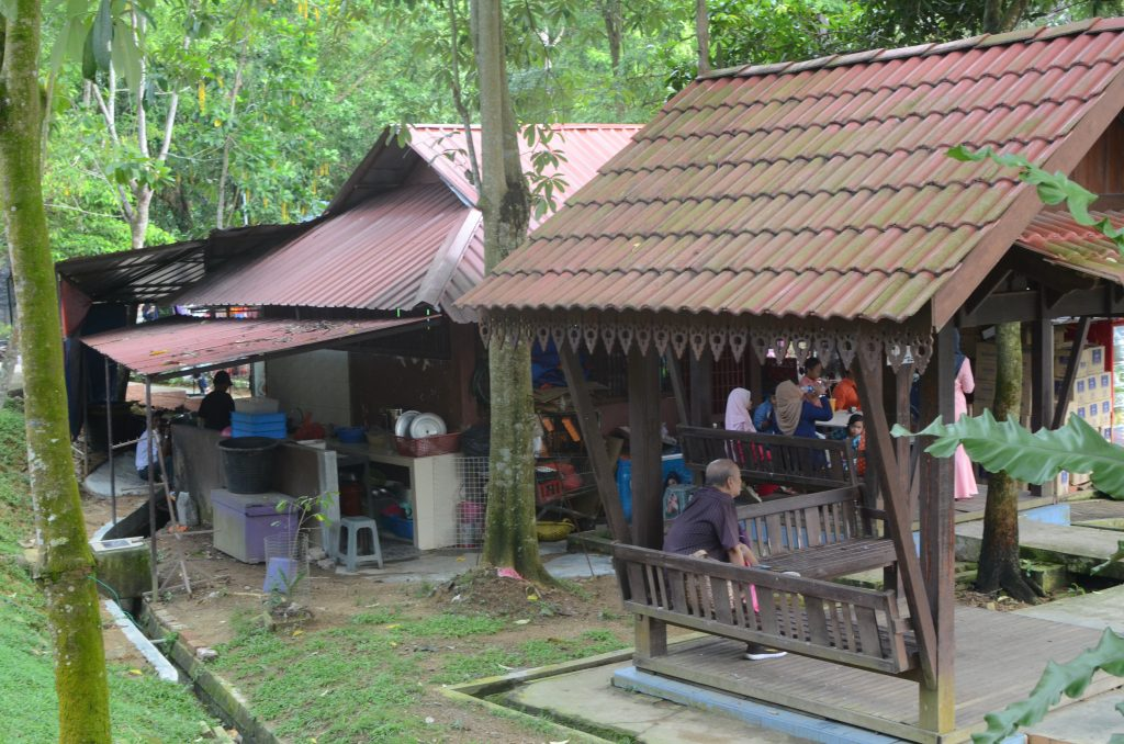 The food stands at the Johor Bahru Zoo, Malaysia