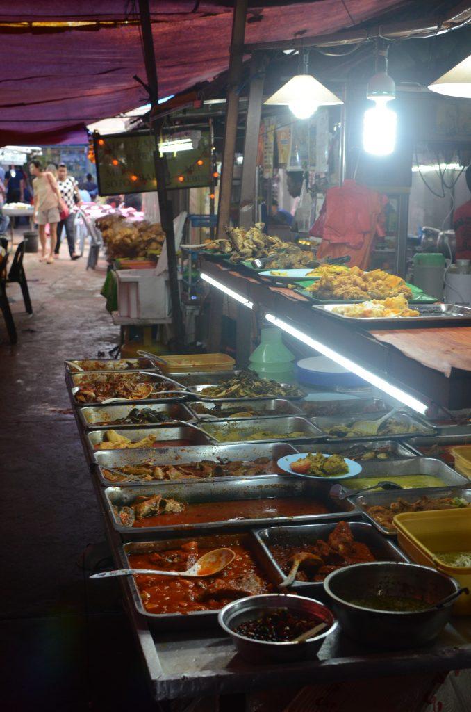 Food market in Johor Bahru, Malaysia