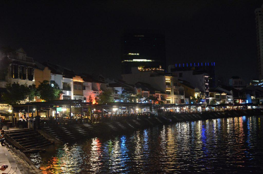 Boat Quay at night, Singapore