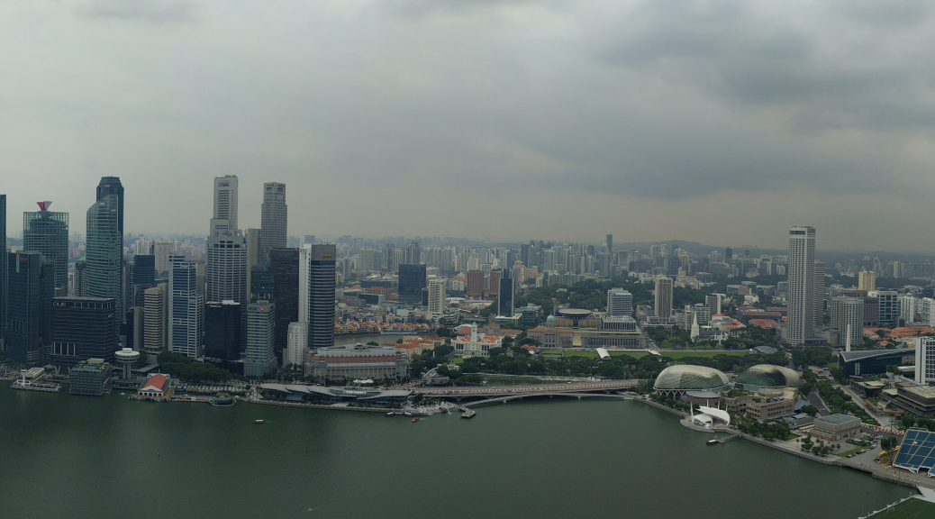 a panorama shot of Singapore