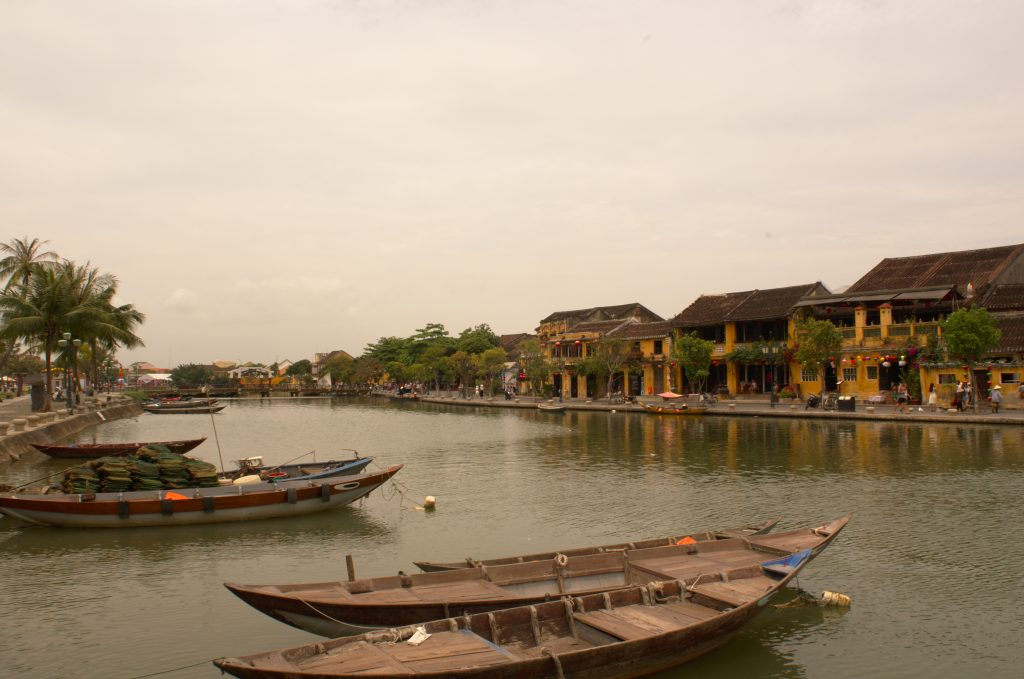 A view of the canals of Hoi An