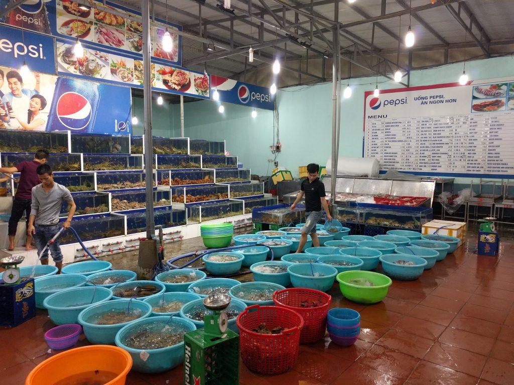 Fish market in Da Nang