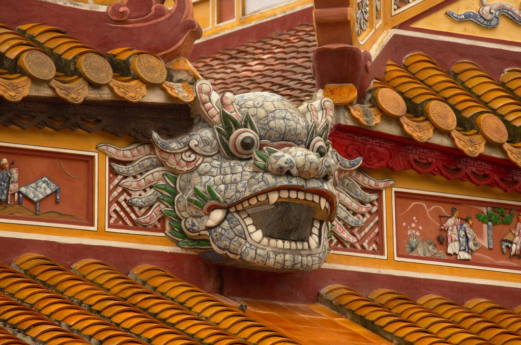 Dragon Face in Hue Palace