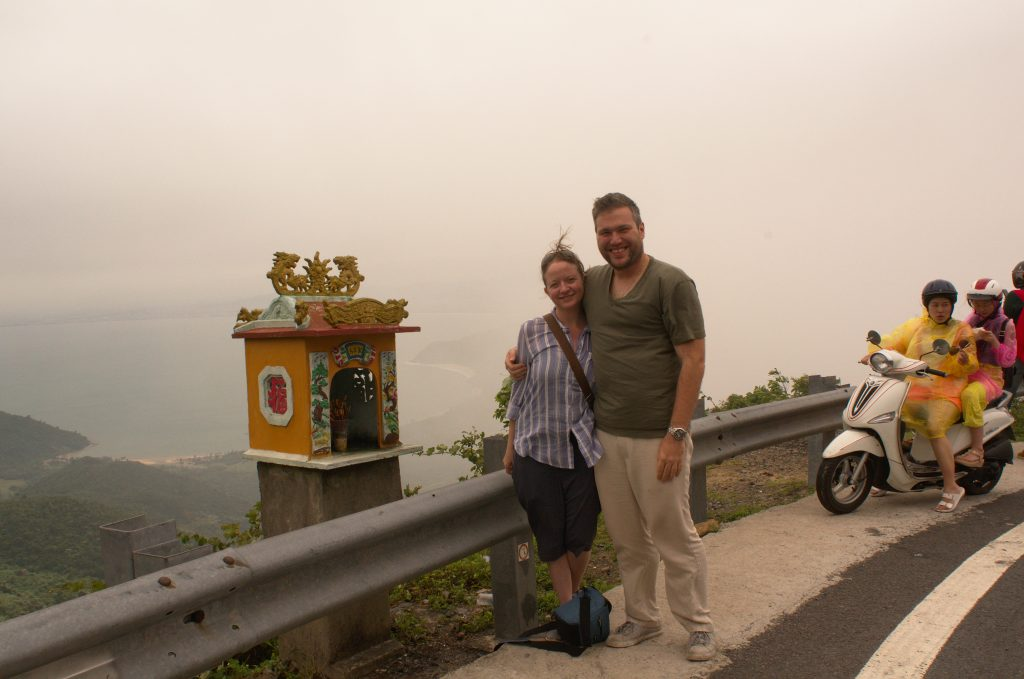 A foggy overlook between Hue and Hoi An